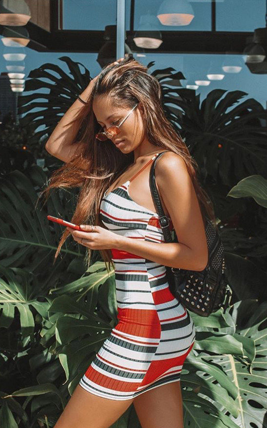 Brogan Stripe Bodycon Dress