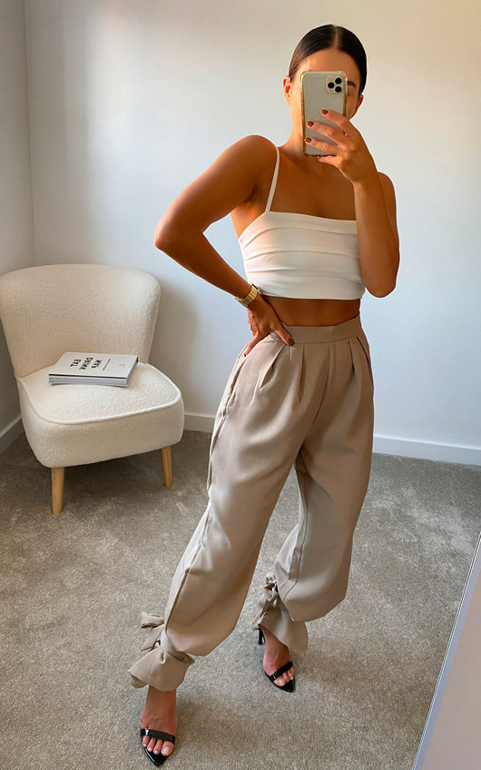 Brooke Slouch Ankle Wrap Trousers