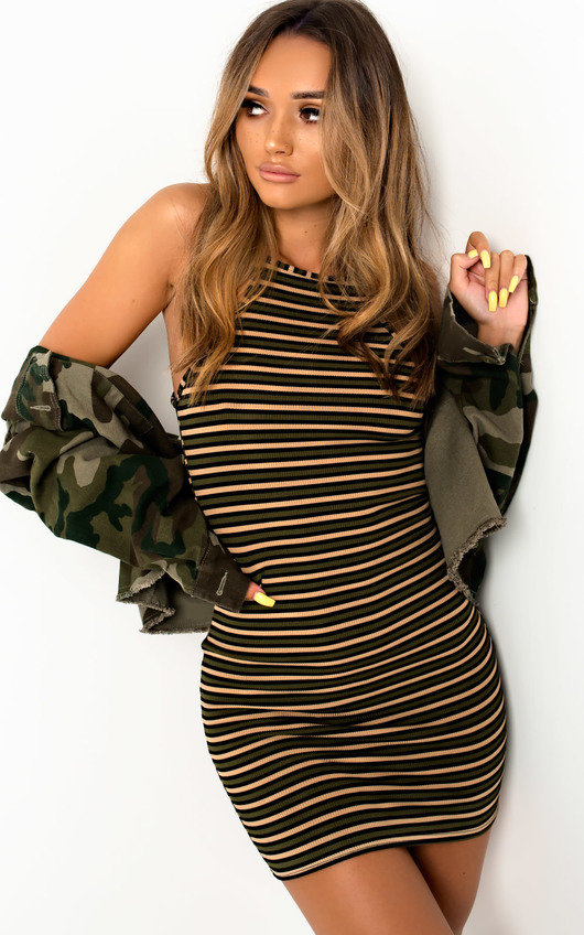 Brooke Stripe Bodycon Dress