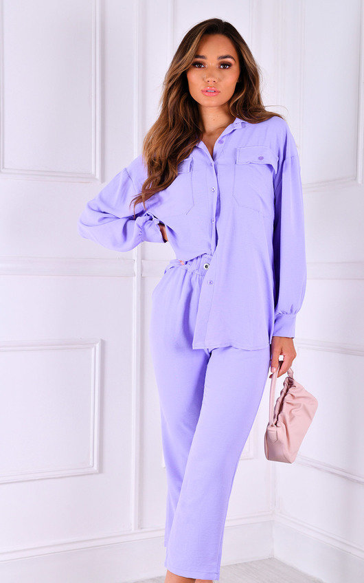 Bryanna Oversized Shirt and Trouser Co-Ord