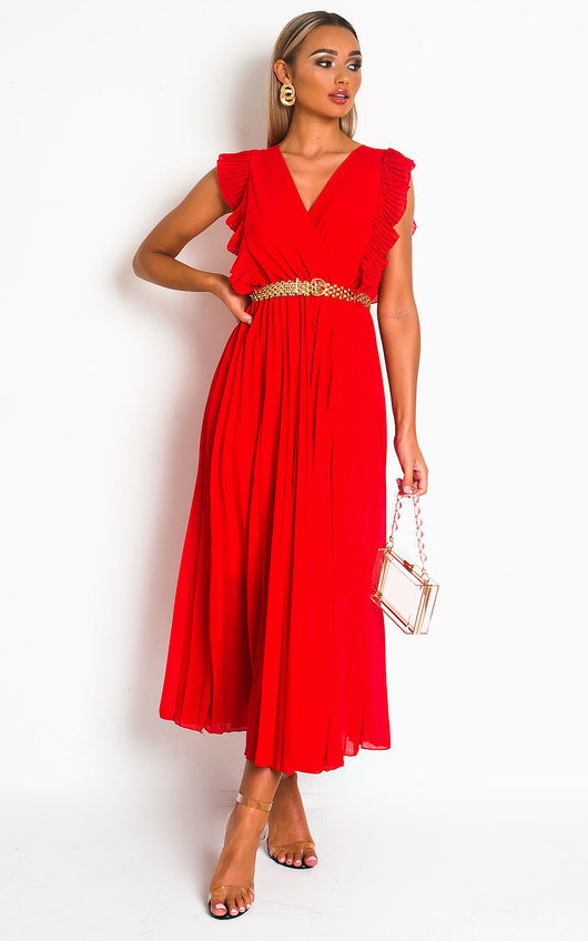 Bryanna Pleated Maxi Dress
