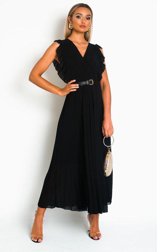 Bryanna Pleated Maxi Dress