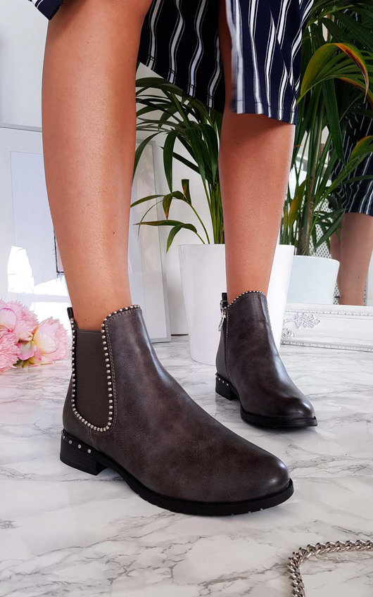 Cadence Stud Detail Ankle Boots