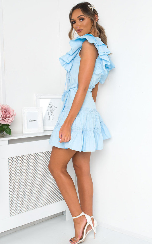 Cam Frill Crochet Mini Dress