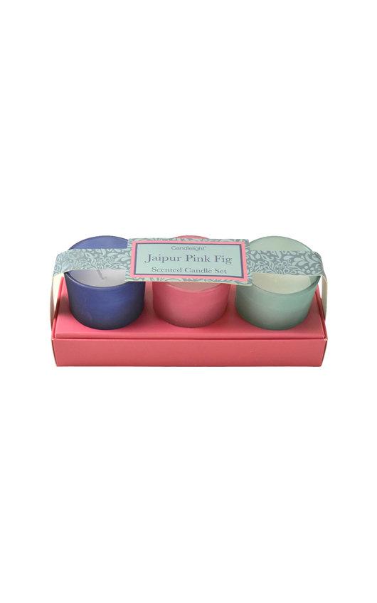 Candlelight Jaipur Pink Fig Mini Candle Set