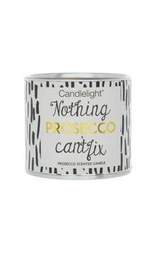 Candlelight Nothing Prosecco Can't Fix Small Tin Candle