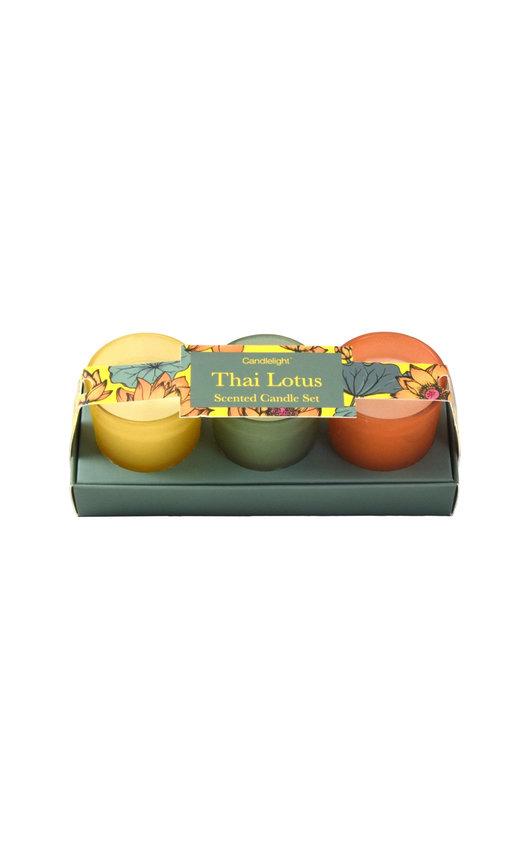 Candlelight Thai Lotus Mini Votive Scented Candle Set