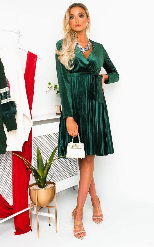Capri Velvet Tie Wrap Dress