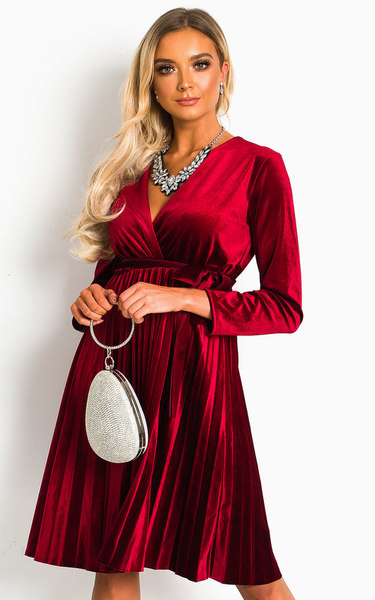 Capri Velvet Tie Wrap Dress