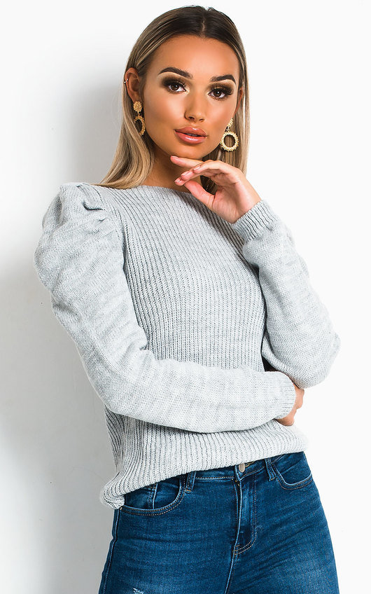 Cara Puffed Sleeve Jumper