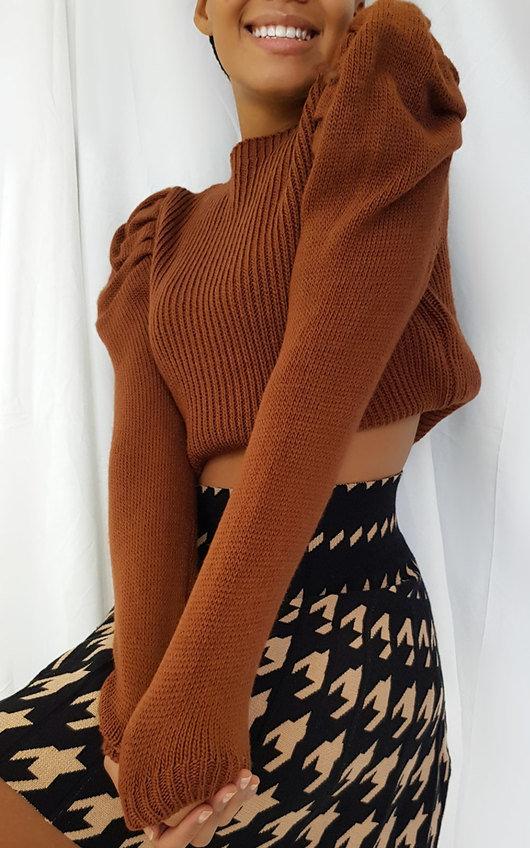 Cara Puffed Sleeve Jumper