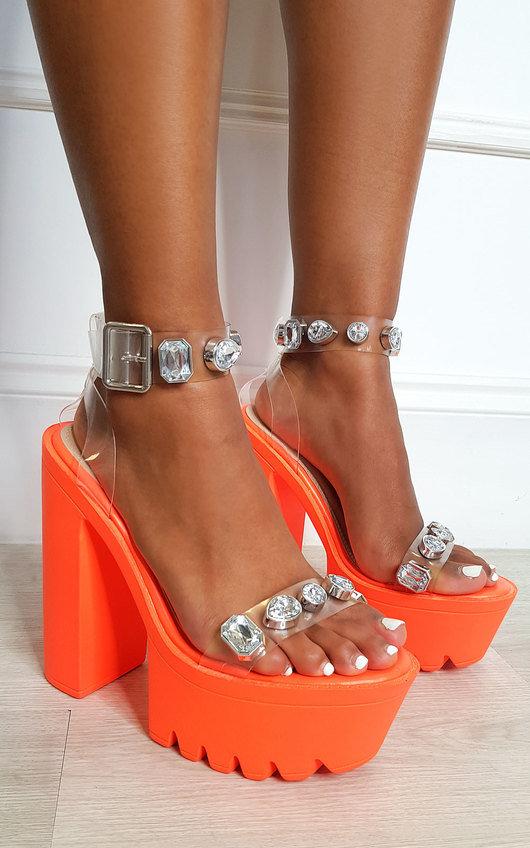 Cardi Jewelled Chunky Platform Heels