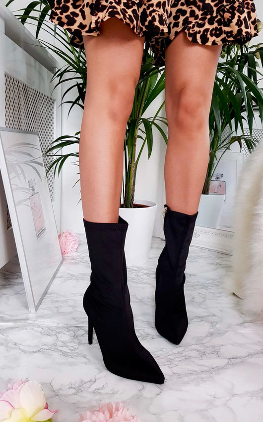 Cardi Lycra Heeled Ankle Boots