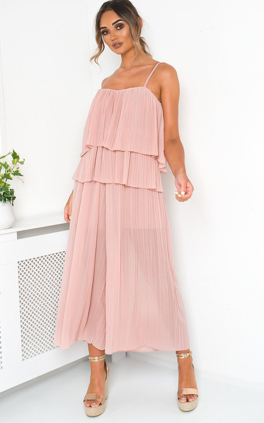 Cardi Pleated Overlay Jumpsuit