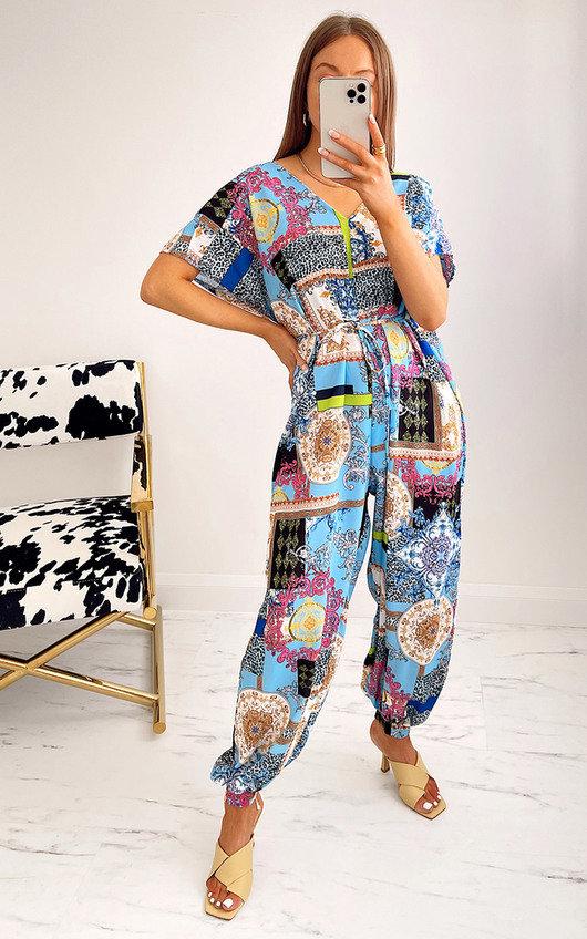 Carina Printed Oversized Jumpsuit
