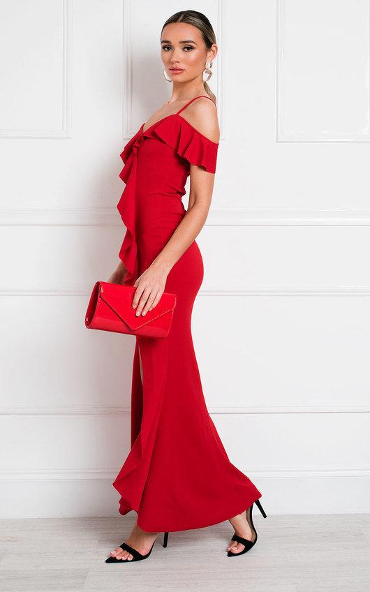 Carina Ruffle Bodycon Maxi Dress