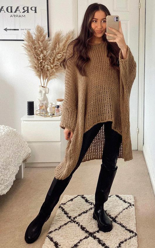 Carla Longline Knitted Jumper