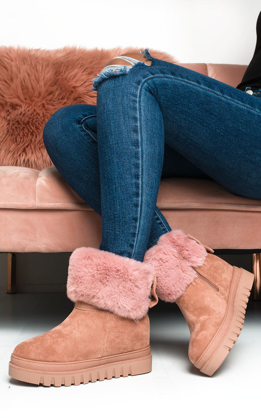 Carlee Faux Fur Desert Boots
