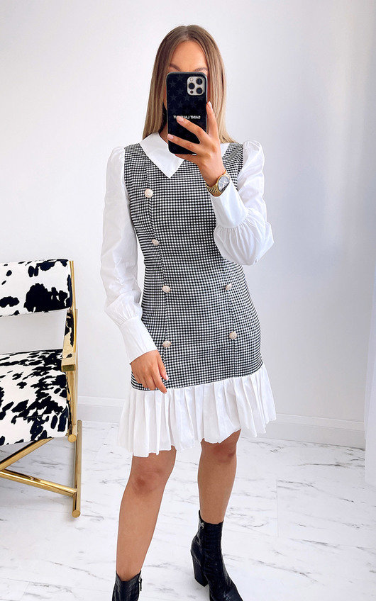 Carly 2 in 1 Shirt Dress with Check Print
