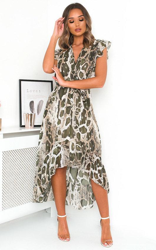 Carmen Snake Print Maxi Dress