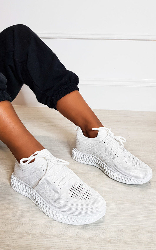 Carrie Lace Up Mesh Sock Trainers