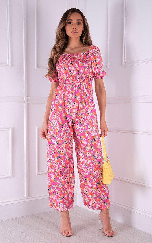 Cartia Floral Puff Sleeve Jumpsuit
