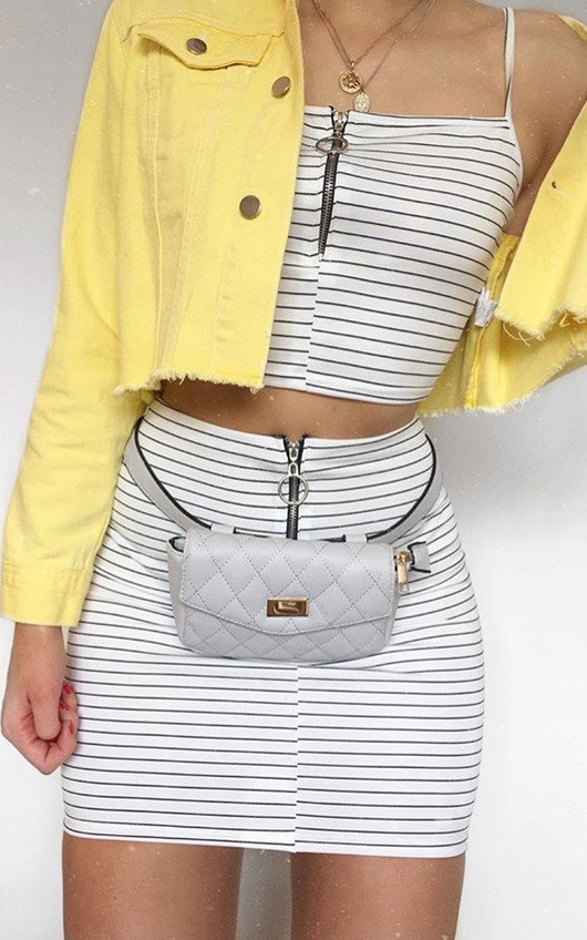 Cartia Stripe Zipped Co-Ord