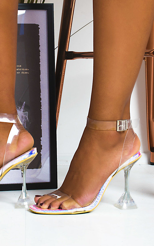Cassie Barely There Perspex Statement Heels