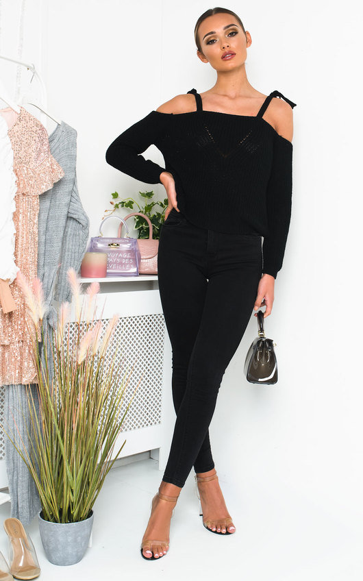 Cassie Chunky Knitted Off-Shoulder Jumper