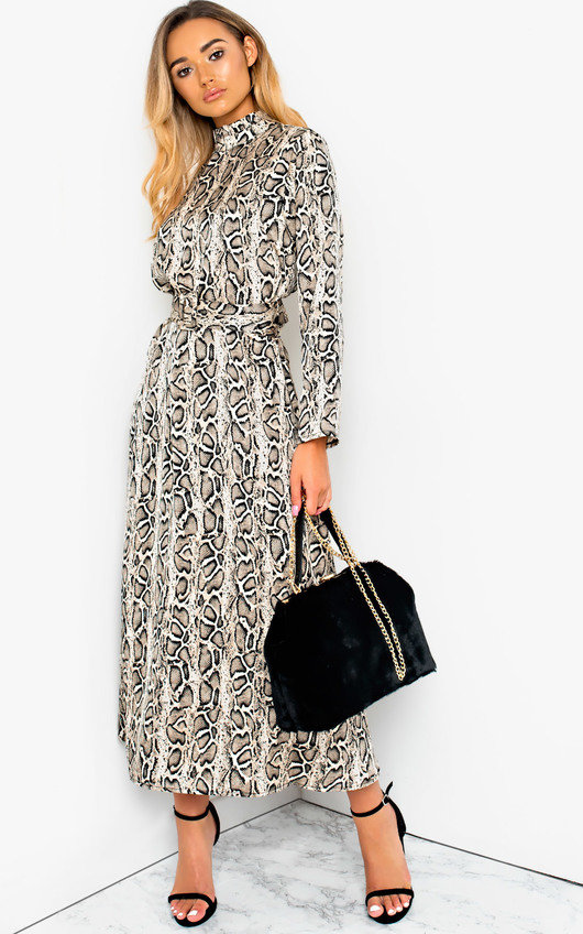 Cassie Printed Belted Maxi Dress