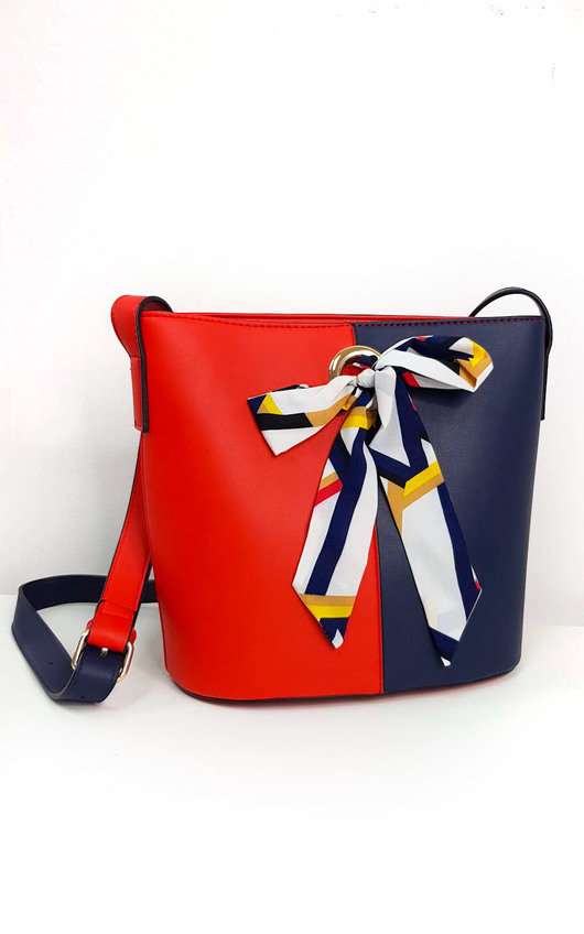 Cassie Two Tone Ribbon Handbag