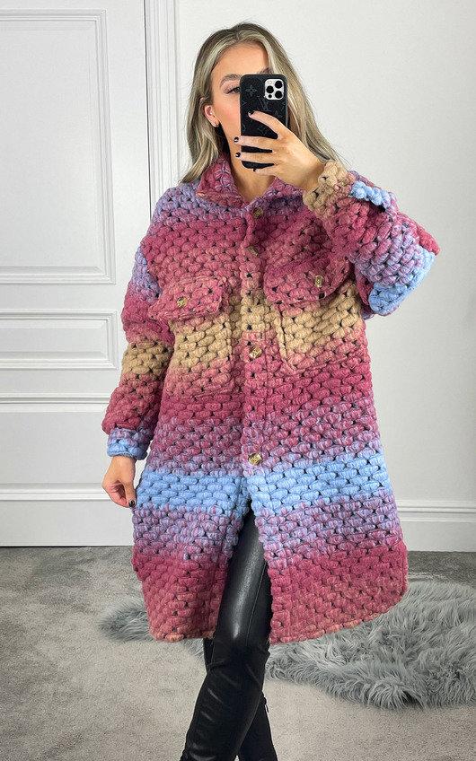 Catherine Chunky Knitted Shirt Jacket