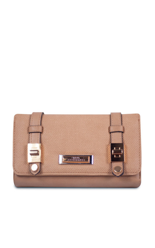 Cece Faux Leather Buckle Purse