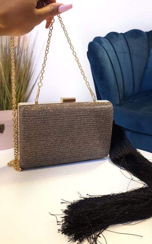 Celine Sparkle Tassel Clutch Bag