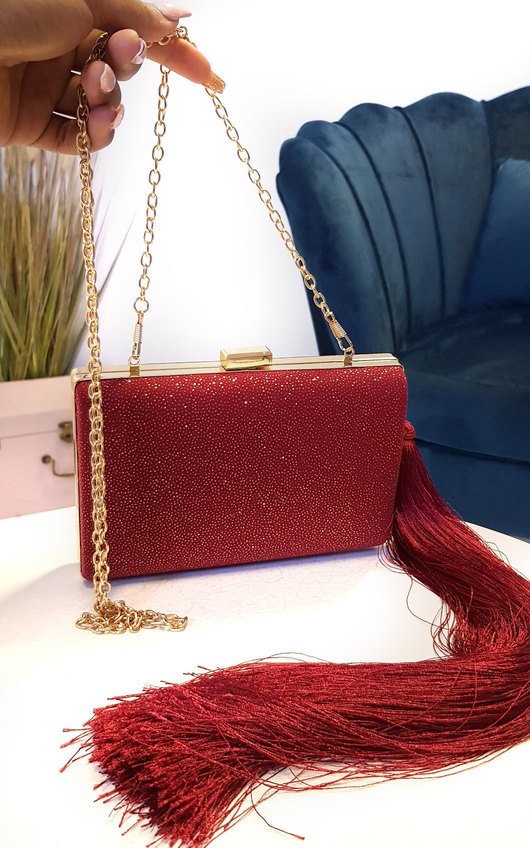 Celine Sparkle Tassel Clutch Bag