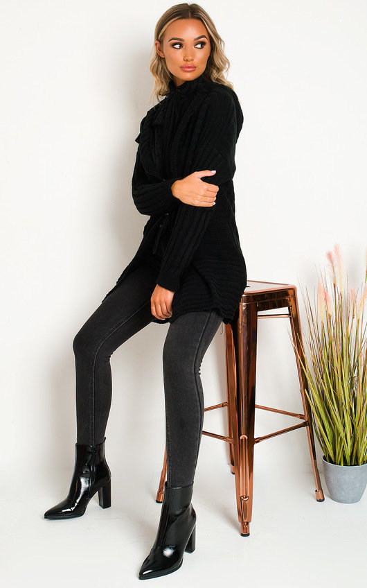Charlotte Longline Hooded Knitted Cardigan