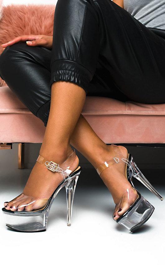 Chastity Platform Perspex Heels