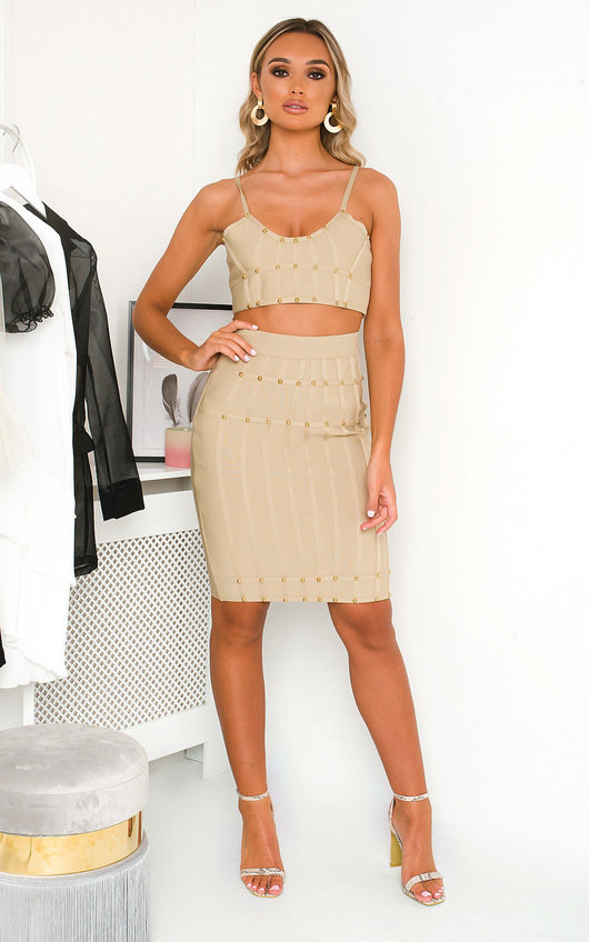 Chelsea Bandage Studded Co-ord