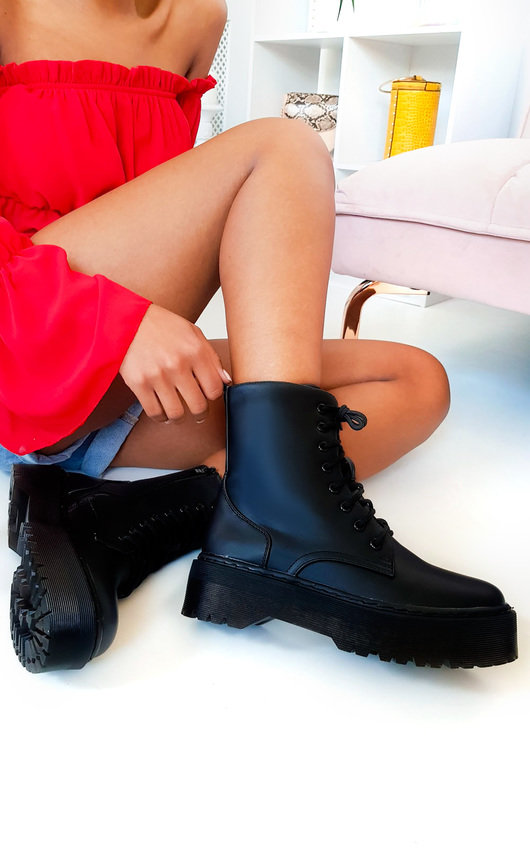 Josie Lace Up Biker Boots