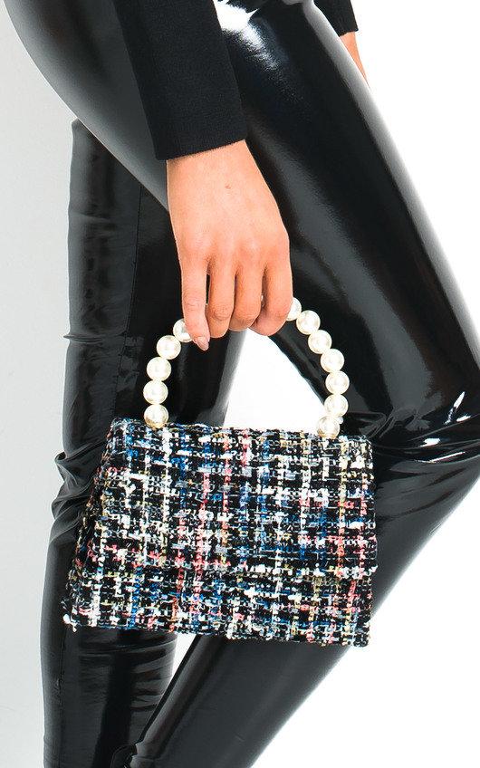 Chey Tweed Pearl Handle Mini Bag