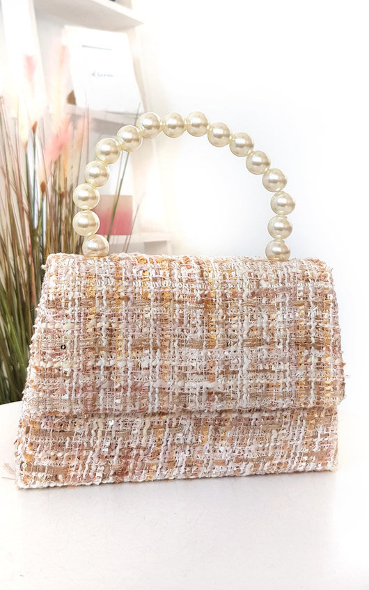 Chey Tweed Pearl Handle Mini Bag