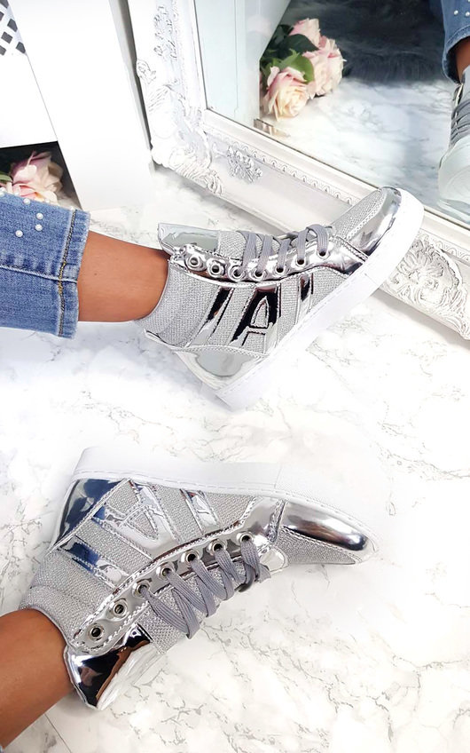 Chicago Metallic High Top Trainers