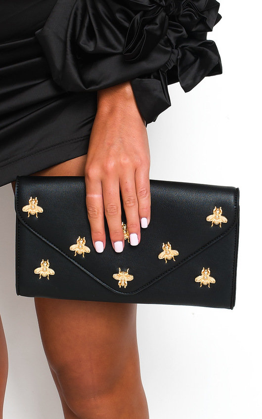 Chlo Bee Embellished Envelope Clutch Bag