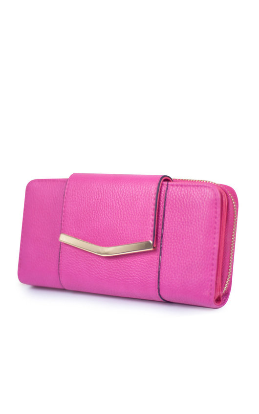 Chlo Faux Leather Gold Bar Purse