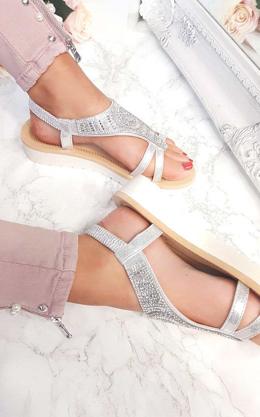 Chloe Diamante Embellished Sandals