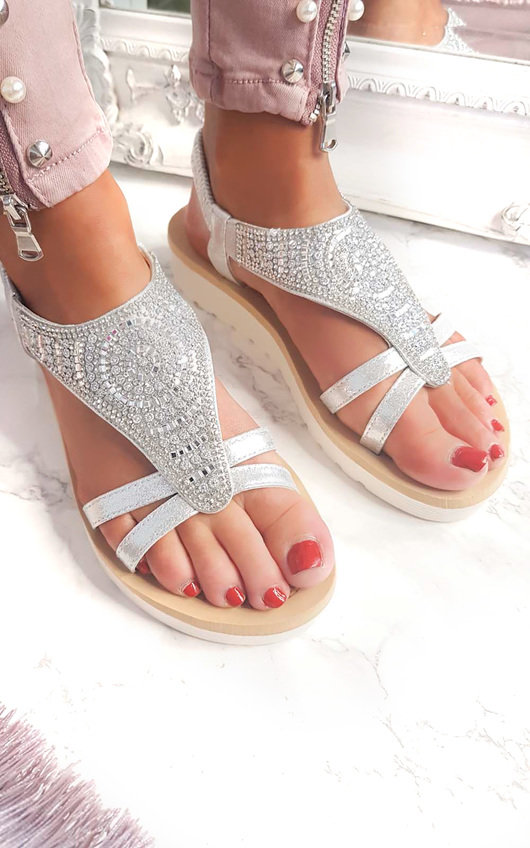 Chloe Diamante Embellished Sandals