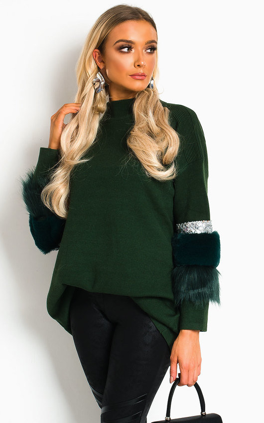 Christina Faux Fur Jumper