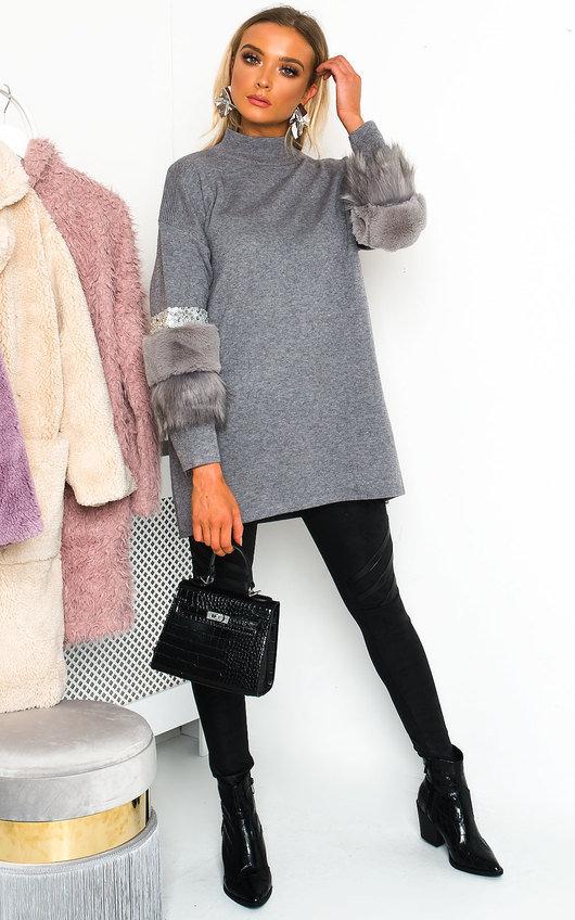 Christina Faux Fur Jumper