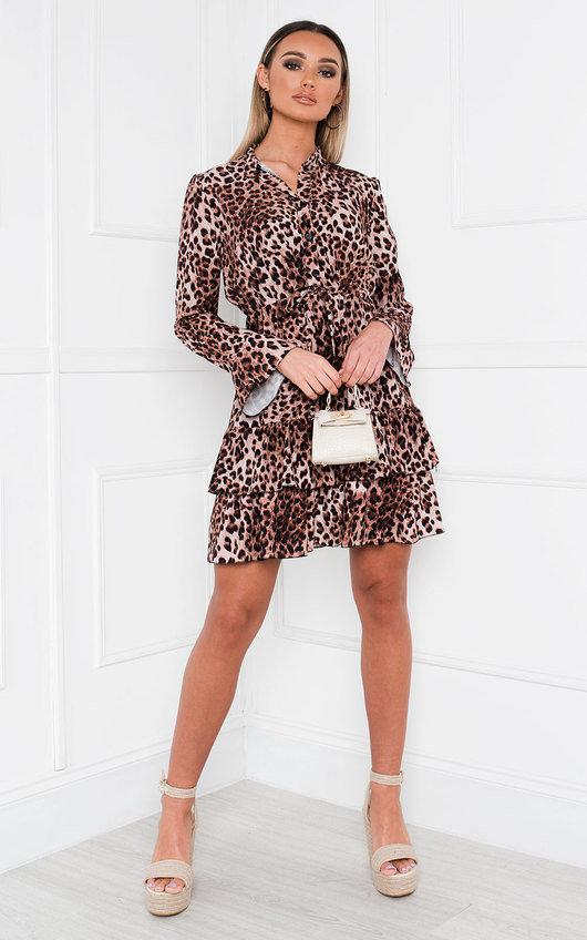 Cia Leopard Print Frill Dress