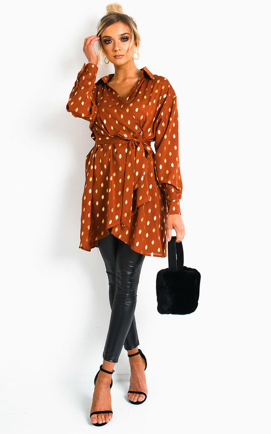 Ciara Polka Dot Shirt Dress